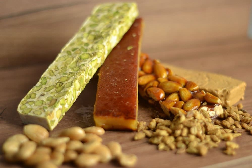 food that start with N Nougat